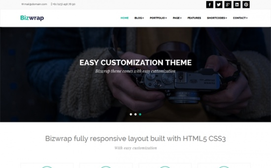 Bizwrap Responsive WordPress Theme