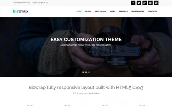 bootstrap Theme Bizwrap Responsive WordPress Theme