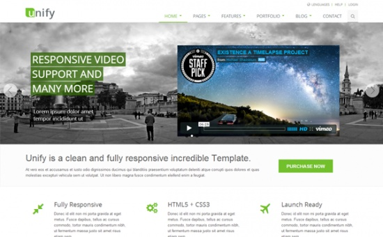 Bootstrap template Unify Responsive Bootstrap Website Template