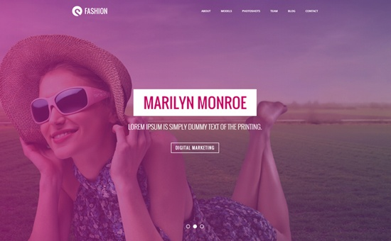 Bootstrap template Sturlly Responsive OnePage Multipurpose Template