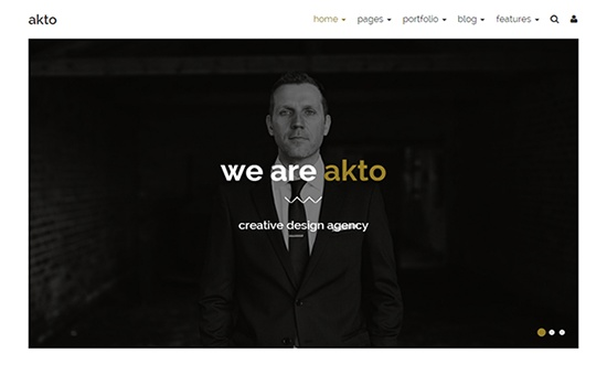 Bootstrap template Akto Multipurpose Website Template