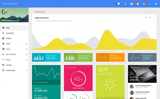 Bootstrap Material Bootstrap Admin Responsive AngularJs template