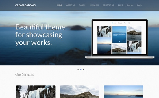 bootstrap Theme Clean Canvas Bootstrap Business Theme