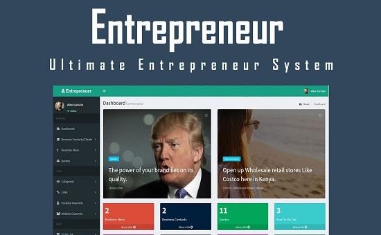 bootstrap Theme Entrepreneur Ultimate Entrepreneur System