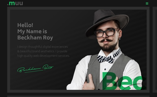 bootstrap framework Theme MUU Interactive Resume and Portfolio