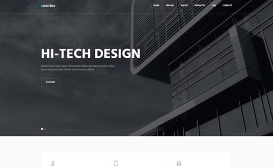 Bootstrap template Asentus