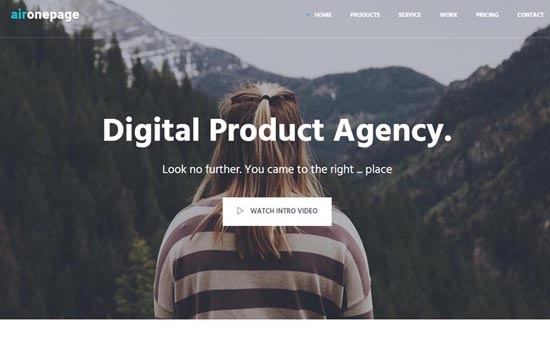 Bootstrap template AirOnePage