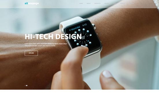 Bootstrap template AitOnePage