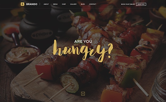 Bootstrap template Brando Responsive and Multipurpose OnePage WordPress Theme
