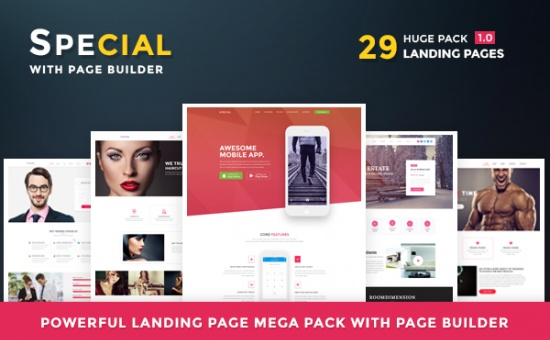 Bootstrap template Special Bootstrap Landing Page Pack HTML Builder