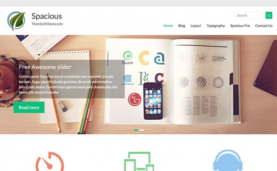 Bootstrap template Spacious Free WordPress Theme