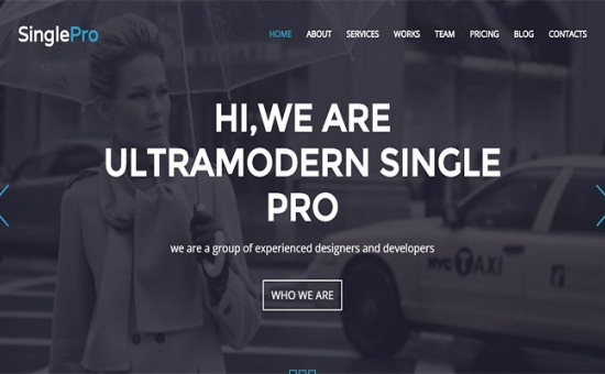 Bootstrap template SinglePro Free Wordpress Portfolio Business Them