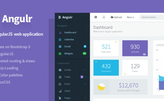 bootstrap Theme Angulr Bootstrap Admin Web App with AngularJS