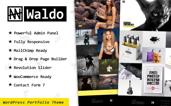 Bootstrap template Waldo Creative Portfolio and WooCommerce WordPress Theme
