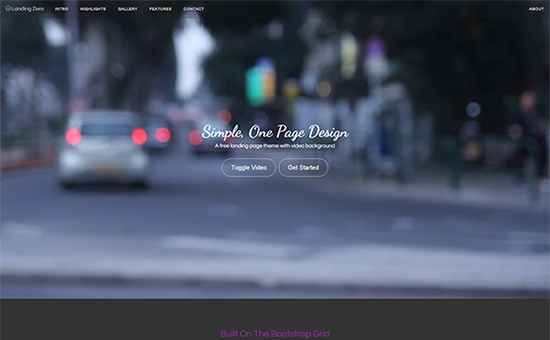 Bootstrap theme/template