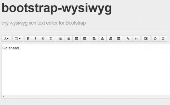 Bootstrap framework utility BOOTSTRAP WYSIWYG