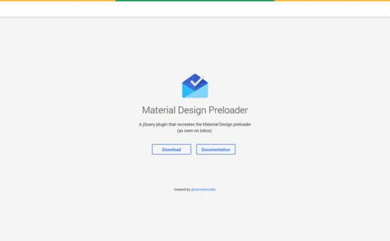 Bootstrap framework utility Material Design Preloader