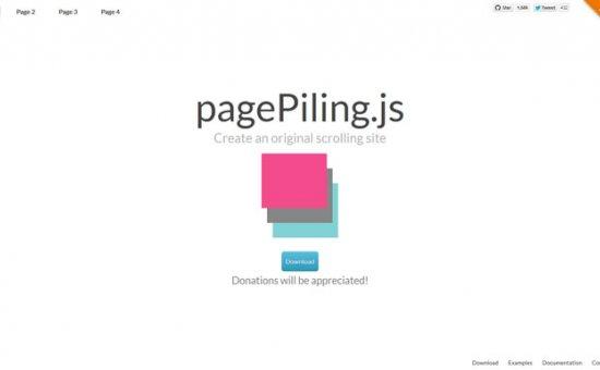 Bootstrap framework utility pagePiling js