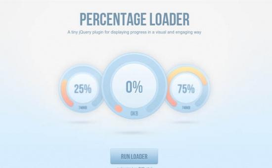 Bootstrap framework utility PercentageLoader