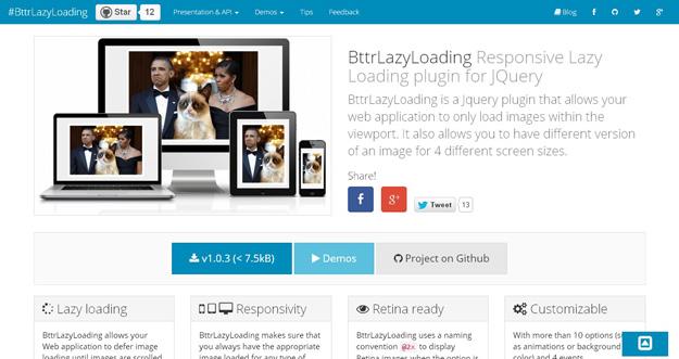 Bootstrap framework utility BttrLazyLoadin