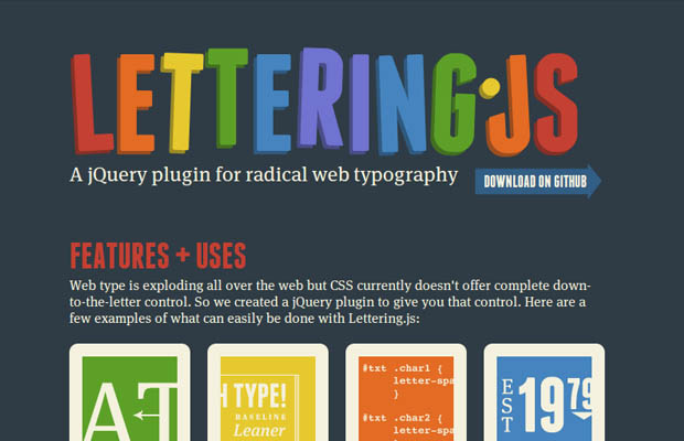 Utility  Lettering js