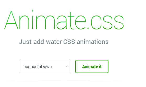 Bootstrap framework utility Just add water CSS animations