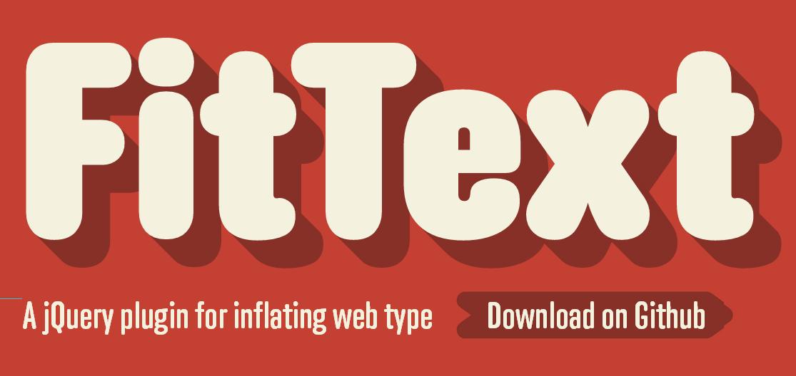 Bootstrap framework utility fittext