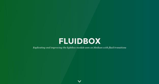 Bootstrap framework utility Fluidbox