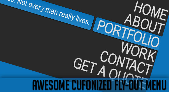 Utility Awesome Cufonized Fly out Menu with jQuery and CSS3