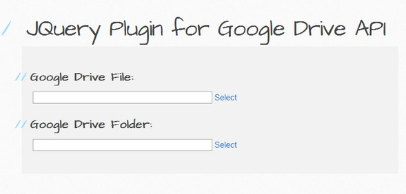 Utility JQuery Plugin for Google Drive API