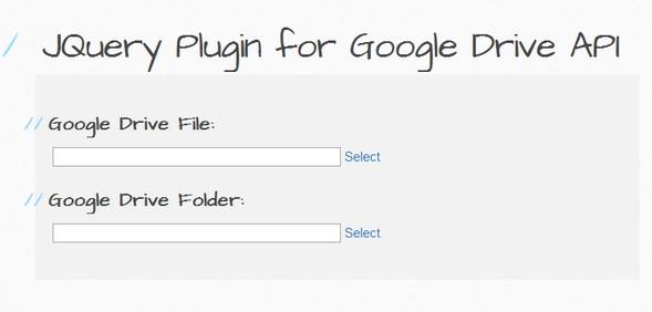 Utility JQuery Plugin for Google Drive API