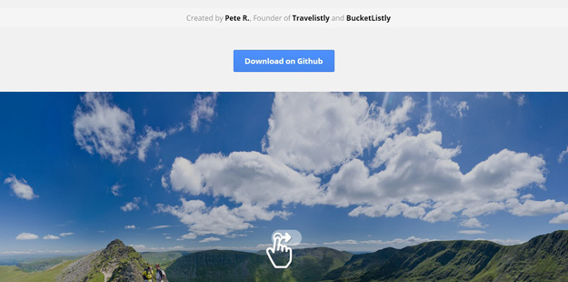 Bootstrap framework utility jQuery Panorama