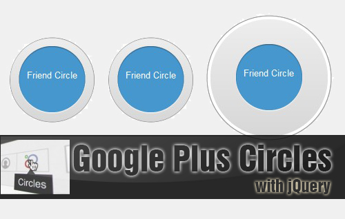 Bootstrap framework utility Google Plus Circle Animation With Jquery and CSS3