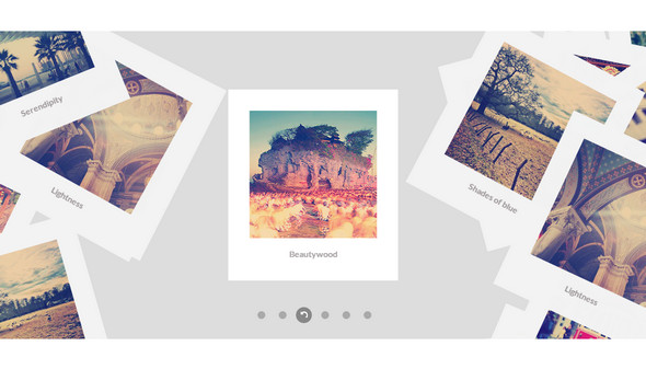 Bootstrap framework utility Scattered Polaroid gallery