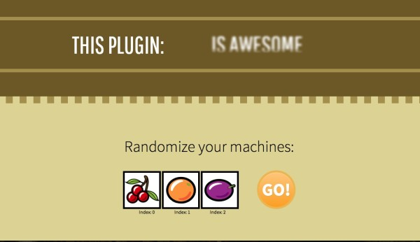 Utility jQuery Slot Machine