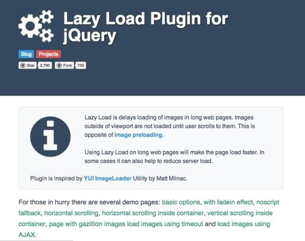 Bootstrap framework utility lazyload