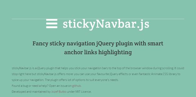 Utility StickyNavbar js